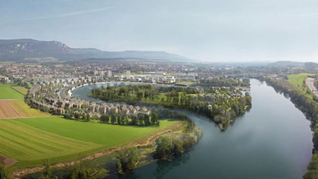 So wird es in Solothurn wahrscheinlich nie aussehen. Die Wasserstadt ist laut Regierung nicht realistisch.