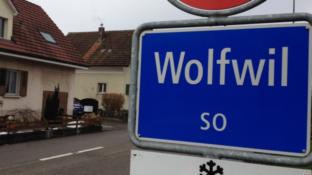 Ortsschild von Wolfwil