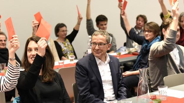 Urs Hofmann wurde mit Standing Ovations für die Wiederwahl nominiert.