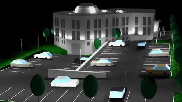 Etwa so sollte die neue Grenchner Moschee dereinst aussehen.