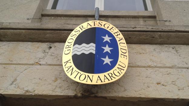 Aargauer Wappen am Grossratsgebäude.