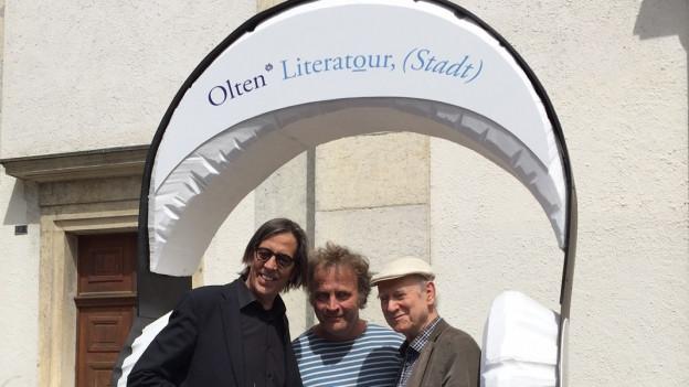 Pedro Lenz, Alex Capus und Franz Hohler (v. l.)