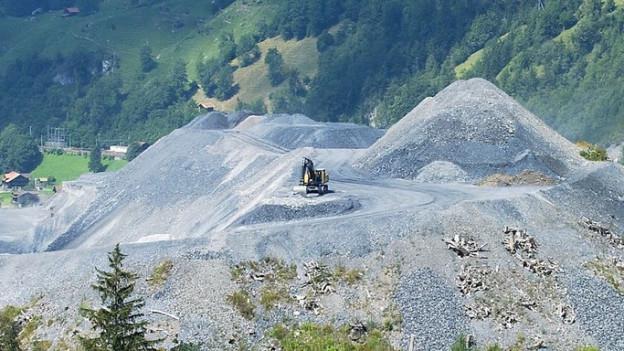 Hügel, wie oberhalb der Neat-Baustelle im Berner Oberland, wären auch im Aargau möglich.