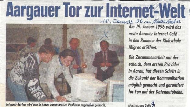 Internetcafé-Initianten in der Zeitung