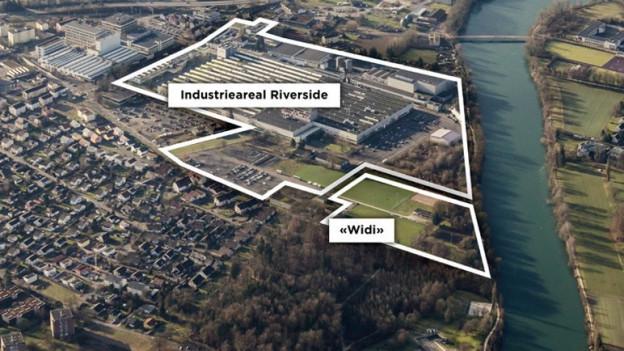 Das Industrieareal gehört der Anlagestiftung der Swiss Prime Site, das «Widi» der Gemeinde. Letztere verkauft nun.
