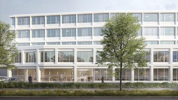 Der Neubau in Aarau soll zwischen der Klinik und dem Kern-Areal entstehen.