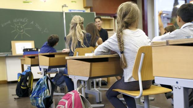 Schüler in einer Primarklasse.