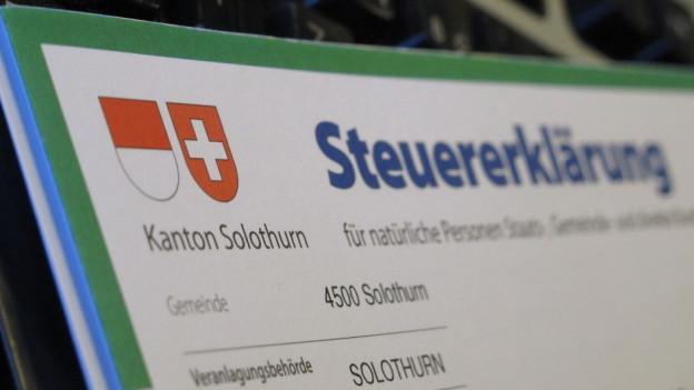 Künftig sollen auch Solothurnerinnen und Solothurner ihre Steuererklärung elektronisch übermitteln können.