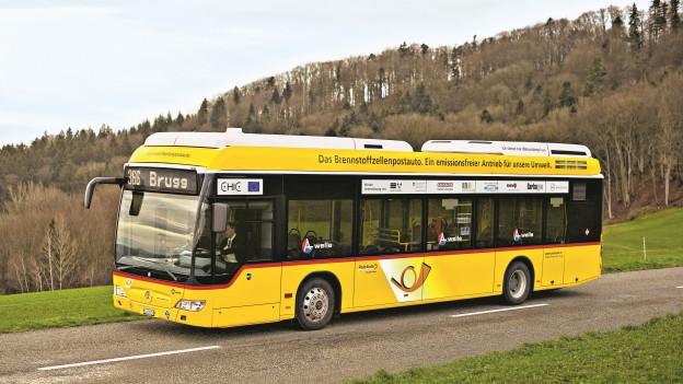 Das Brennstoffzellen-Postauto ist in der Region Brugg nur noch bis spätestens Frühling 2017 unterwegs.