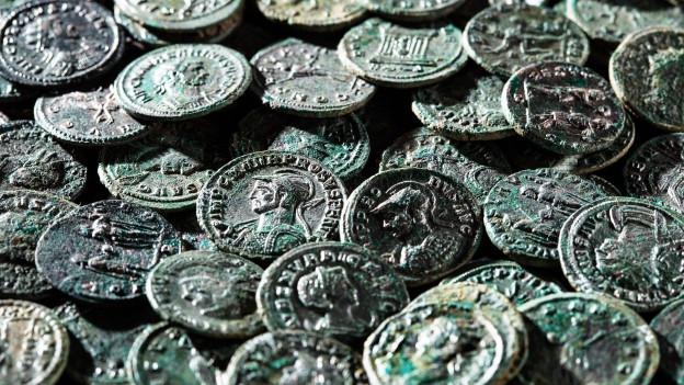 Die römischen Münzen von Ueken sind sehr gut erhalten.