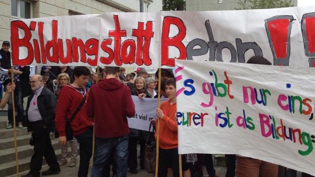 Bereits vor zwei Jahren haben die Aargauer Lehrer gegen die Sparpläne demonstriert.