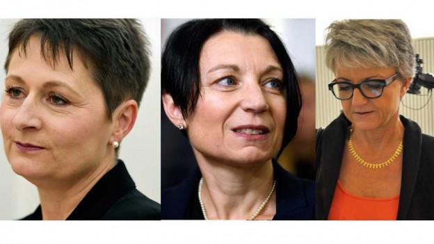 SVP-Kandidatin Franziska Roth, SP-Nationalrätin Yvonne Feri und BDP-Frau Maya Bally im Duell um die Aargauer Regierung.