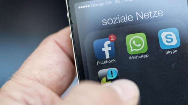 Apps für Social Media auf einem Smartphone.