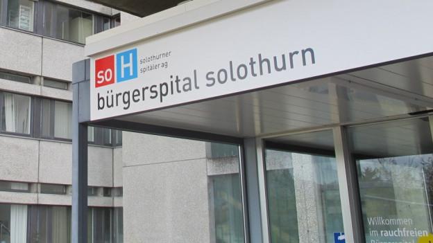 Eingang des Bürgerspitals Solothurn.