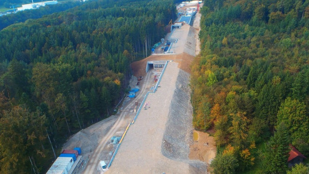 Der SwissFEL ist 740 Meter lang und kostet total 275 Millionen Franken. Im Bild die Baustelle vor einem Jahr.