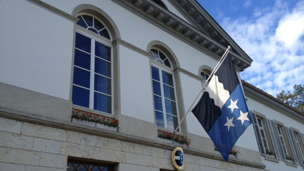 Das Grossratsgebäude in Aarau von aussen.
