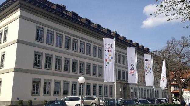 Hauptgebäude der Axpo in Baden an der Parkstrasse. Der Energiekonzern kämpft mit einem erneut schlechten Jahresergebnis.
