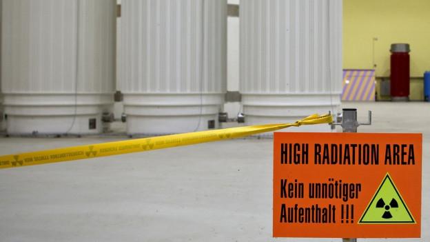 Castor-Behälter im Zwischenlager Würenlingen.