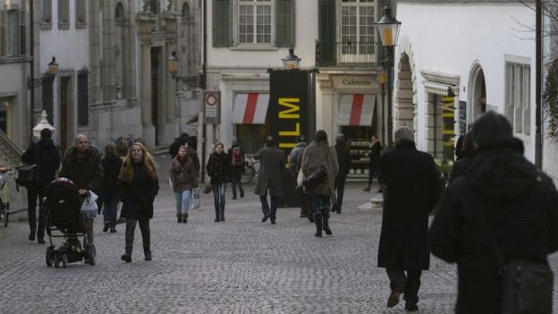 Blick in die Solothurner Altstadt