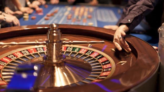 Roulette-Tisch im Casino Baden