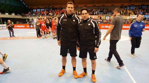 Stefan Styger und Robin Sager sind ein gefragtes Schiedsrichter-Duo im Handball.