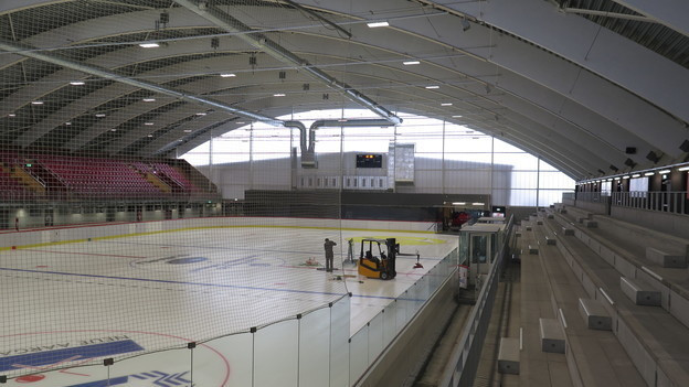 m November 2016 wurde die neue Eishalle feierlich eröffnet. Die Freude war jedoch für die Vereine nur von kurzer Dauer.