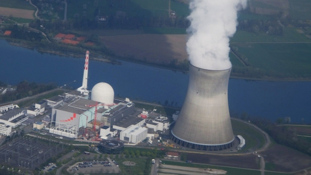 Das Kernkraftwerk Leibstadt in einer Luftaufnahme