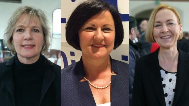Brigit Wyss, Marianne Meister und Susanne Schaffner.