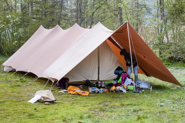 Zelt in einem Pfadilager