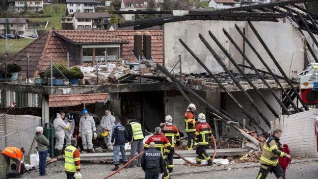 Die Explosion in Gansingen ist nicht die Todesursache der beiden verstorbenen Personen.