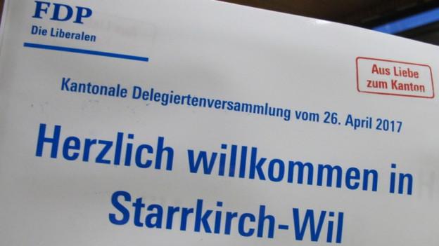Einladung zur Delegiertenversammlung der FDP