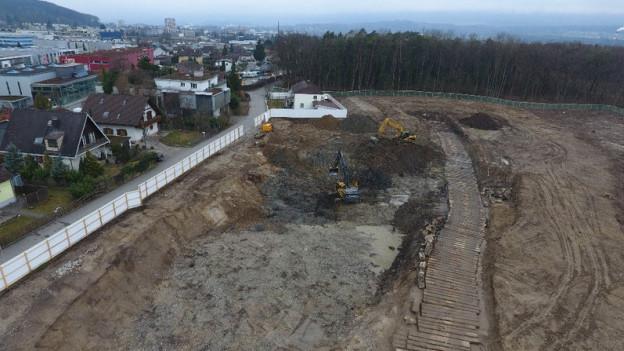 Deponie Rüti in Zuchwil: Auch im Waldstück oben kam noch Abfall zum Vorschein.
