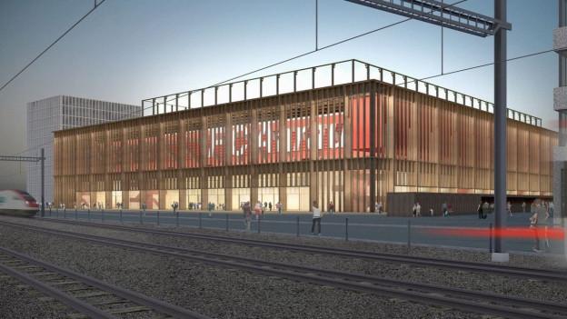 So wird es wohl kaum aussehen: Das Aarauer Stadionprojekt wird komplett überarbeitet.