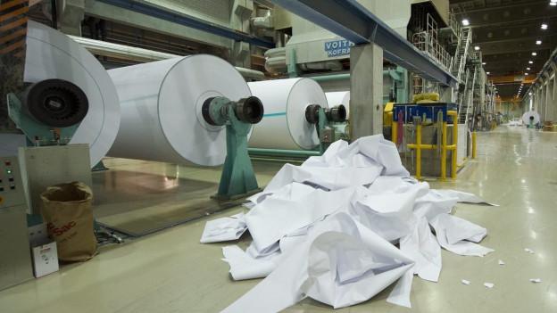 Seit 2011 wird in der Papieri in Biberist kein Papier mehr hergestellt.