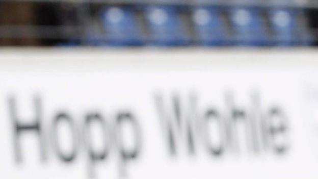 Schild Hopp Wohle beim Stadion Niedermatten.