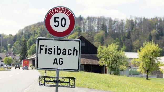 Ortsschild Fisibach