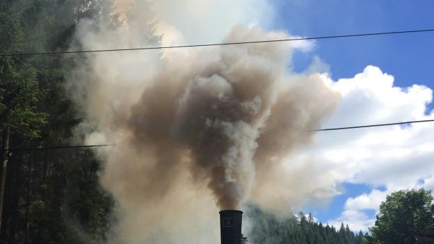 In Baden löste eine Dampfloki einen Brandalarm aus (Symbolbild)