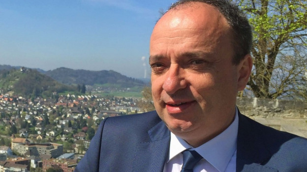 Markus Dieth, Aargauer Finanzdirektor hat am Freitag das Budget 2018 präsentiert
