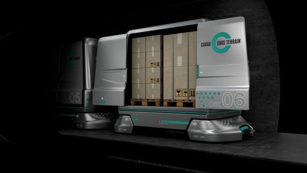 Führerlose, automatische Güterwägelein sollen die grossen Zentren verbinden – vorerst von Härkingen nach Zürich.