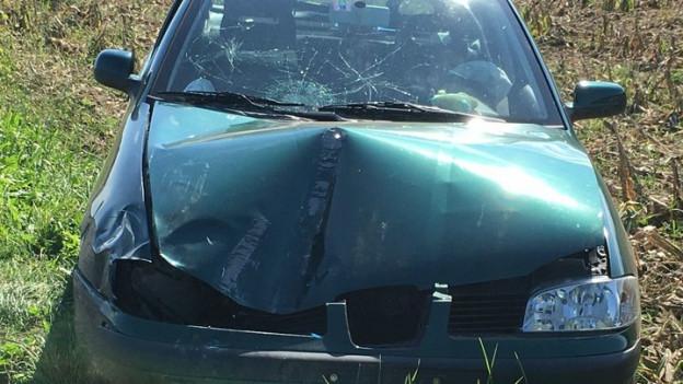 Das Unfallauto im September 2016.