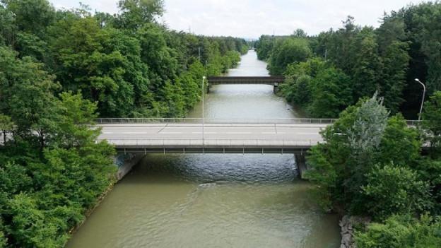 Luftaufnahme Brücke