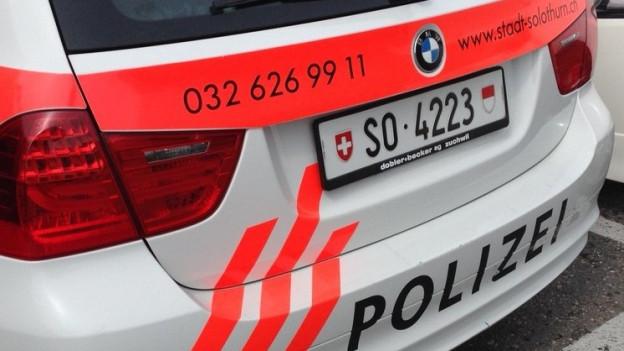 Auto der Polizei Solothurn.