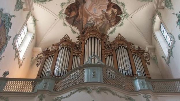 Das ist die Hauptorgel in der Kirche St. Martin in Rheinfelden.