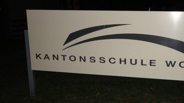 Tafel Kantonsschule.