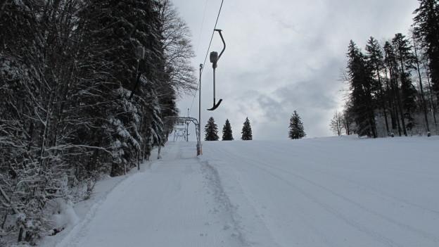 Der Skilift auf dem Grenchenberg