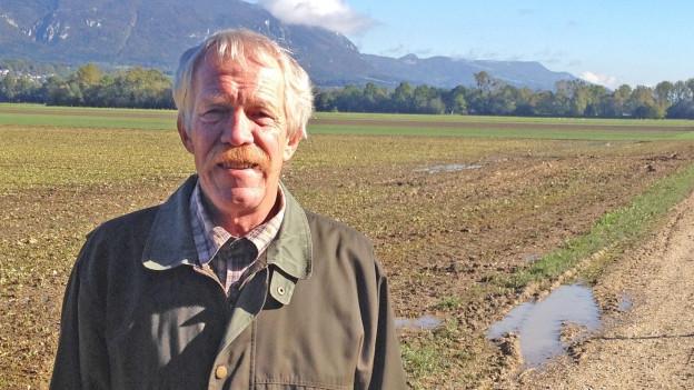 Viktor Stüdeli auf Feld