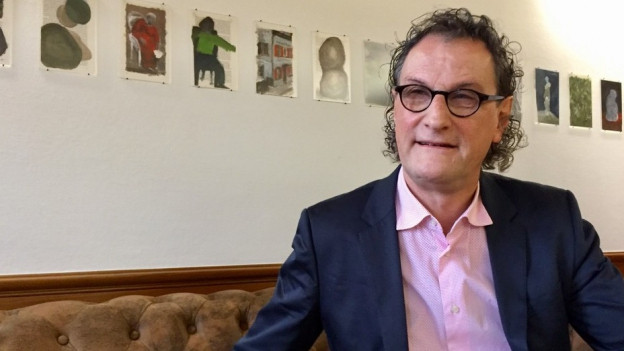 20. Dezember 2017: Geri Müller in seinem Büro im Stadthaus in Baden. Noch zehn Tage wird er Ammann, also Stadtpräsident sein. Dann beginnt ein neuer Lebensabschnitt für ihn. Was er bringen wird, weiss Müller noch nicht. Finanziell muss er sich keine Sorgen machen. Er erhält noch zwei Jahre lang das halbe Ammann-Salär.