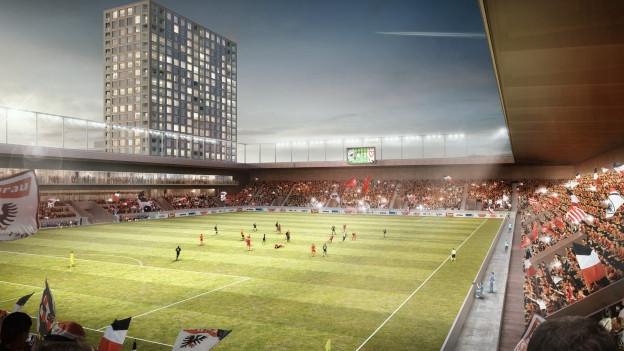 Modell-Innensicht des neuen Stadions