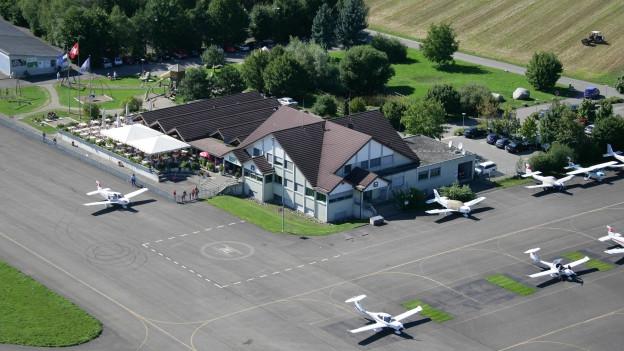 Flugplatz Birrfeld von oben.