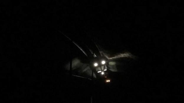 Der Zug im Dunkeln: Bei Tageslicht zeigt sich dann, wie gross die Schäden sind.